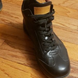 Louis Vuitton leather sneaker boots